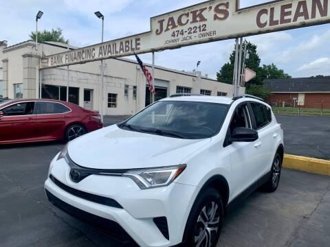 2018 Toyota RAV4 for sale at JACK'S MOTOR COMPANY in Van Buren AR