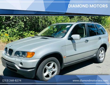 2001 BMW X5 for sale at Diamond Motors in Lakewood WA
