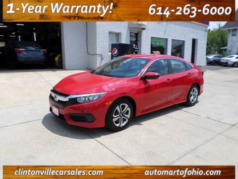 2016 Honda Civic for sale at Clintonville Car Sales in Columbus OH