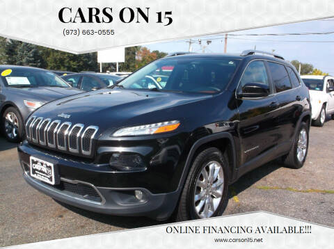 2016 Jeep Cherokee for sale at Cars On 15 in Lake Hopatcong NJ