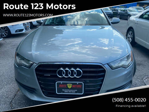 2014 Audi A6 for sale at Route 123 Motors in Norton MA