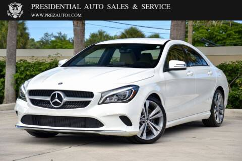2019 Mercedes-Benz CLA for sale at Presidential Auto  Sales & Service in Delray Beach FL