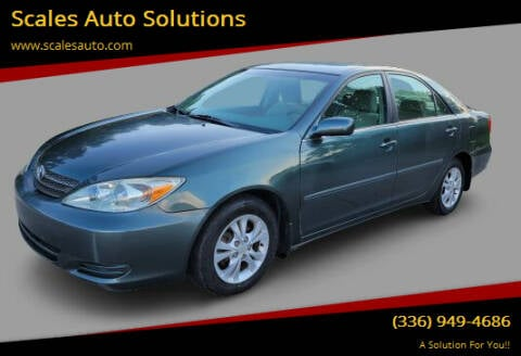 2004 Toyota Camry for sale at Scales Auto Solutions in Madison NC