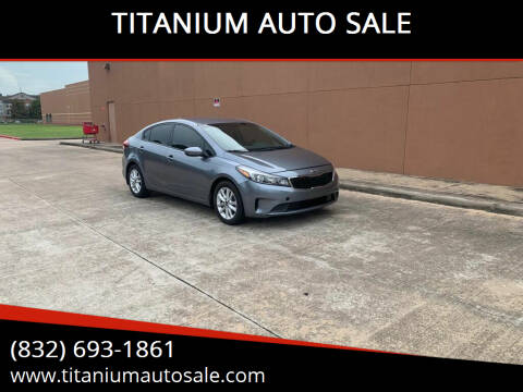 2017 Kia Forte for sale at TITANIUM AUTO SALE in Houston TX