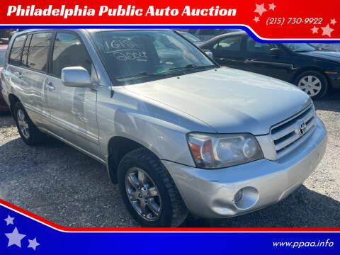 2004 Toyota Highlander for sale at Philadelphia Public Auto Auction in Philadelphia PA