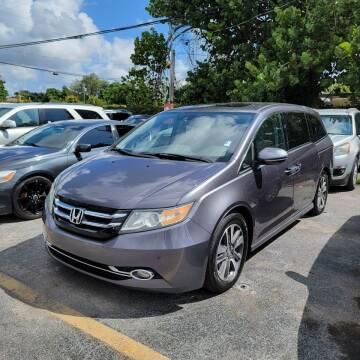 2015 Honda Odyssey for sale at America Auto Wholesale Inc in Miami FL