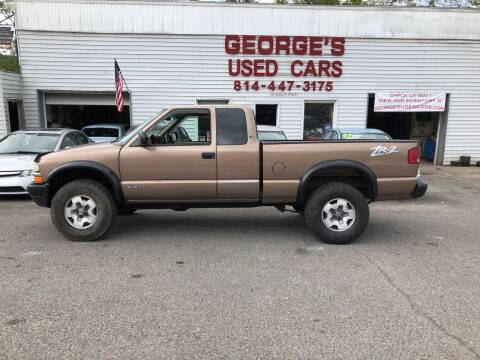 2002 Chevrolet S-10 for sale at George's Used Cars Inc in Orbisonia PA