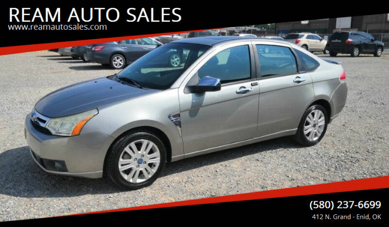 2008 Ford Focus for sale at REAM AUTO SALES in Enid OK