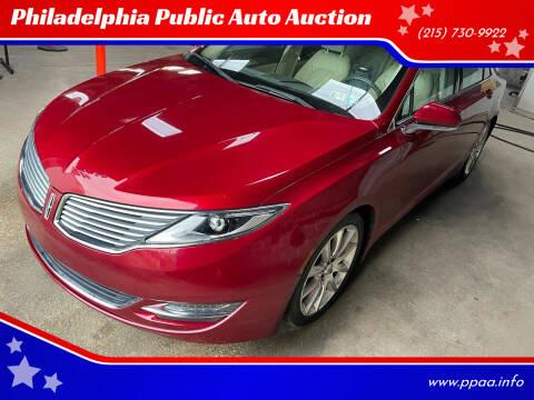 2014 Lincoln MKZ for sale at Philadelphia Public Auto Auction in Philadelphia PA