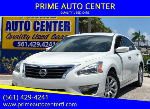 2015 Nissan Altima for sale at PRIME AUTO CENTER in Palm Springs FL