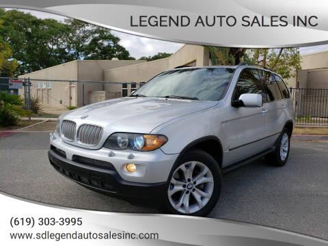 2006 BMW X5 for sale at Legend Auto Sales Inc in Lemon Grove CA
