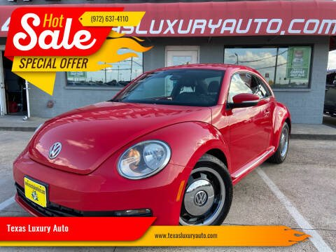 2013 Volkswagen Beetle for sale at Texas Luxury Auto in Cedar Hill TX