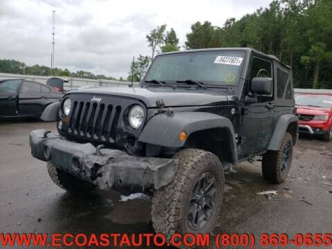 2016 Jeep Wrangler for sale at East Coast Auto Source Inc. in Bedford VA
