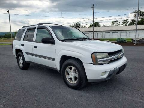 2002 Chevrolet TrailBlazer for sale at SOUTH MOUNTAIN AUTO SALES in Shippensburg PA
