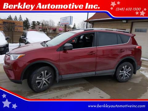 2018 Toyota RAV4 for sale at Berkley Automotive Inc. in Berkley MI