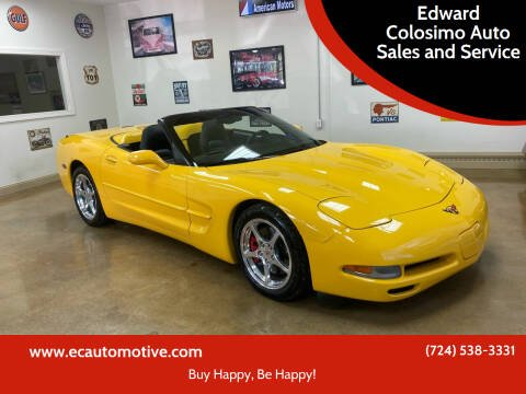2001 Chevrolet Corvette for sale at Edward Colosimo Auto Sales and Service in Evans City PA