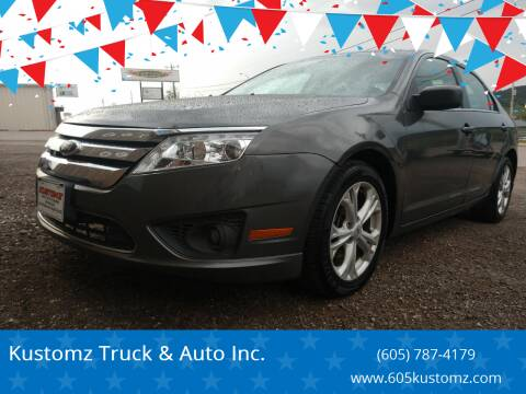 2012 Ford Fusion for sale at Kustomz Truck & Auto Inc. in Rapid City SD