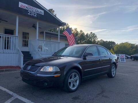 2004 Volkswagen Passat for sale at CVC AUTO SALES in Durham NC