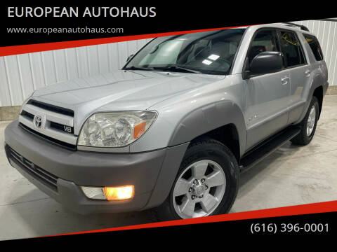 2003 Toyota 4Runner for sale at EUROPEAN AUTOHAUS in Holland MI