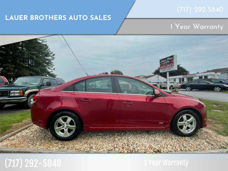 2012 Chevrolet Cruze for sale at LAUER BROTHERS AUTO SALES in Dover PA