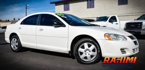2005 Dodge Stratus for sale at Rahimi Automotive Group in Yuma AZ