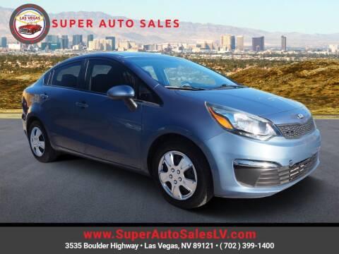 2016 Kia Rio for sale at Super Auto Sales in Las Vegas NV