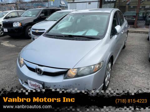 2010 Honda Civic for sale at Vanbro Motors Inc in Staten Island NY