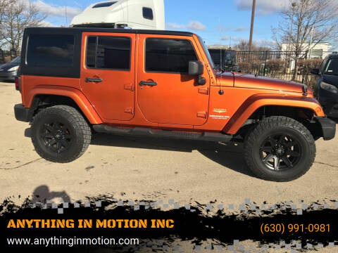 2011 Jeep Wrangler Unlimited for sale at ANYTHING IN MOTION INC in Bolingbrook IL