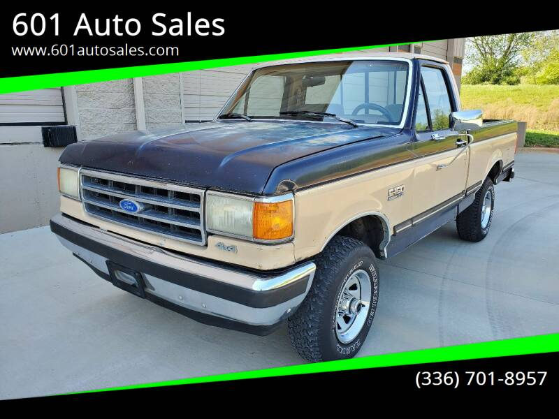 1990 Ford F-150 for sale at 601 Auto Sales in Mocksville NC