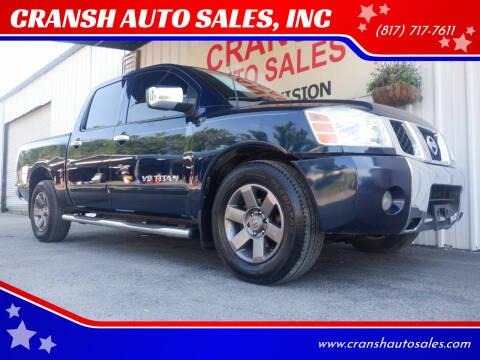 2007 Nissan Titan for sale at CRANSH AUTO SALES, INC in Arlington TX