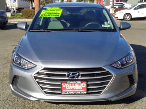 2017 Hyundai Elantra for sale at Vallejo Motors in Vallejo CA