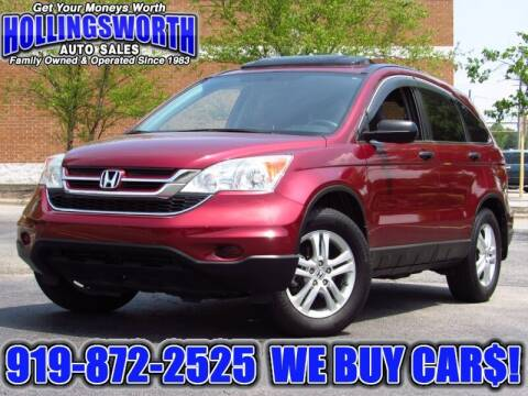 2010 Honda CR-V for sale at Hollingsworth Auto Sales in Raleigh NC