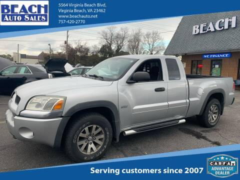 2006 Mitsubishi Raider for sale at Beach Auto Sales in Virginia Beach VA