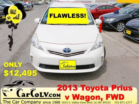 2013 Toyota Prius v for sale at The Car Company in Las Vegas NV