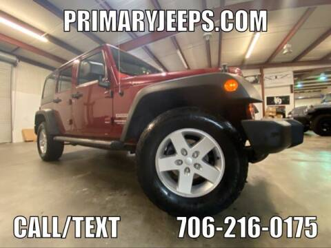 2013 Jeep Wrangler Unlimited for sale at Primary Auto Group Jeeps Hummers Tacomas in Dawsonville GA