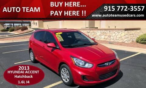 2013 Hyundai Accent for sale at AUTO TEAM in El Paso TX