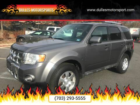 2012 Ford Escape for sale at Dulles Motorsports in Dulles VA