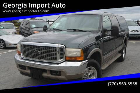 2000 Ford Excursion for sale at Georgia Import Auto in Alpharetta GA