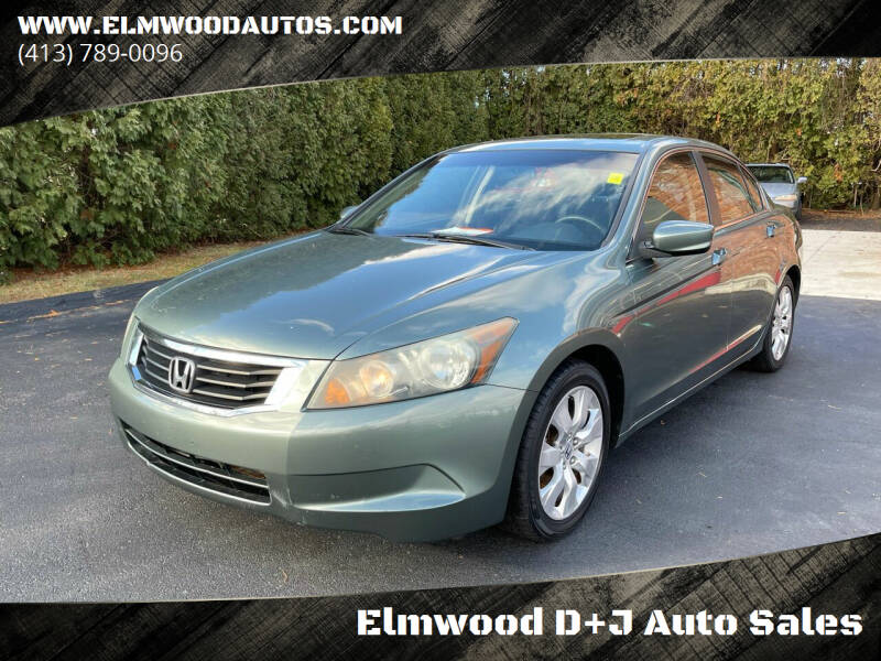 2009 Honda Accord for sale at Elmwood D+J Auto Sales in Agawam MA