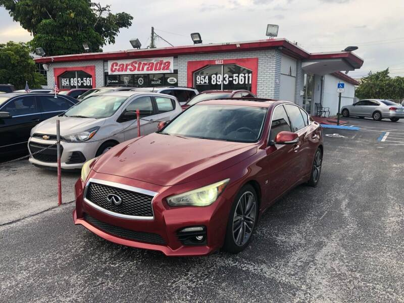 2014 Infiniti Q50 for sale at CARSTRADA in Hollywood FL