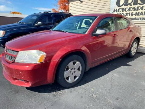 2008 Dodge Avenger for sale at MARK CRIST MOTORSPORTS in Angola IN