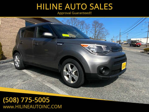 2017 Kia Soul for sale at HILINE AUTO SALES in Hyannis MA