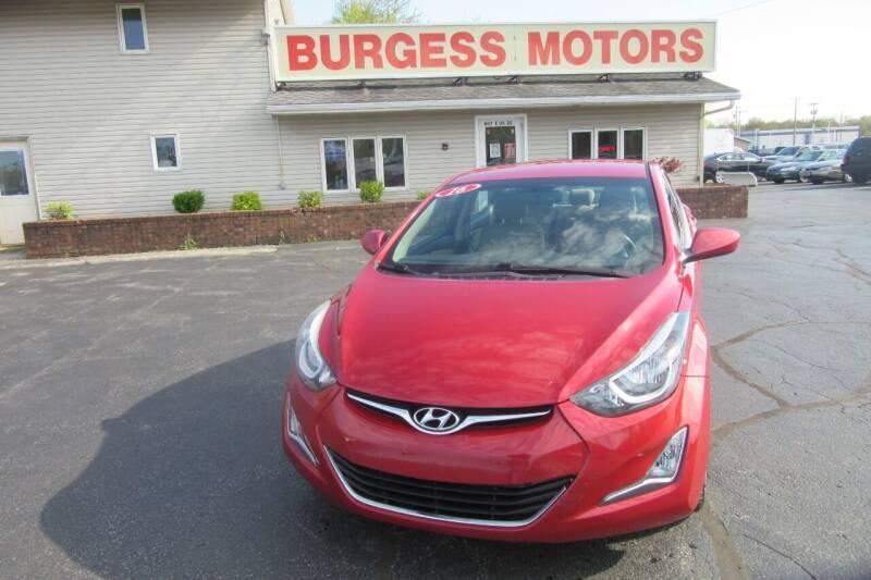 2016 Hyundai Elantra for sale at Burgess Motors Inc in Michigan City IN