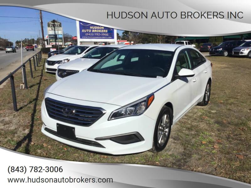 2017 Hyundai Sonata for sale at HUDSON AUTO BROKERS INC in Walterboro SC