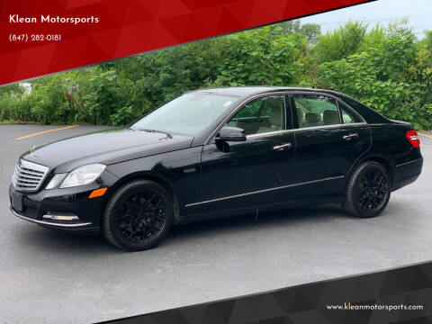 2013 Mercedes-Benz E-Class for sale at Klean Motorsports in Skokie IL