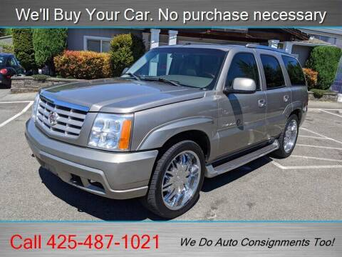 2002 Cadillac Escalade for sale at Platinum Autos in Woodinville WA