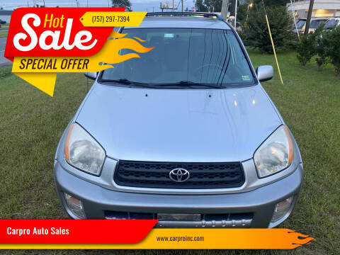 2001 Toyota RAV4 for sale at Carpro Auto Sales in Chesapeake VA