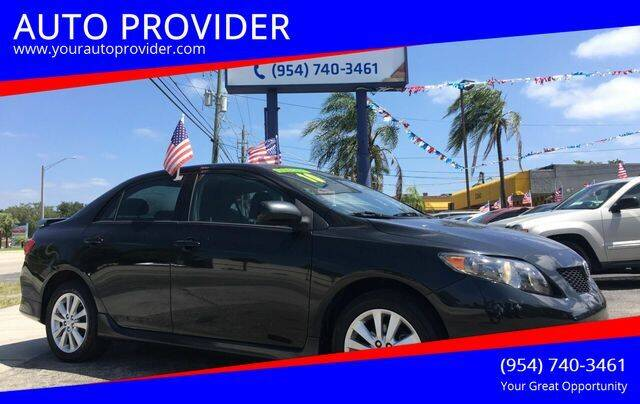 2010 Toyota Corolla for sale at AUTO PROVIDER in Fort Lauderdale FL