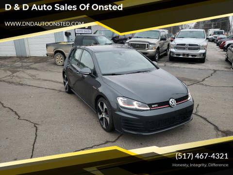 2015 Volkswagen Golf GTI for sale at D & D Auto Sales Of Onsted in Onsted   Brooklyn MI