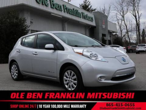 2016 Nissan LEAF for sale at Ole Ben Franklin Mitsbishi in Oak Ridge TN